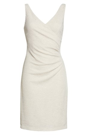 Eliza J Ruched Sleeveless Dress | white