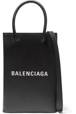 Balenciaga   Mini printed textured-leather tote   NET-A-PORTER.COM