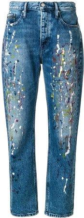 paint splattered mom jeans