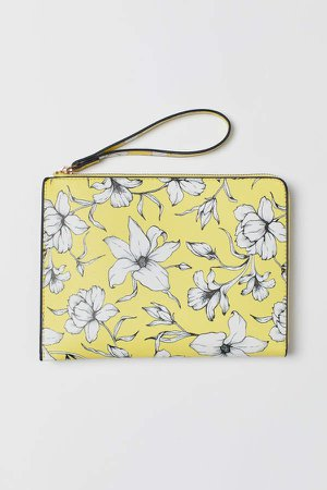 Patterned Clutch Bag - Yellow