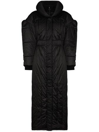 Marine Serre high-neck Puffer Coat - Farfetch