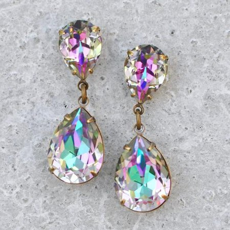 Pastel Rainbow Diamond Earrings