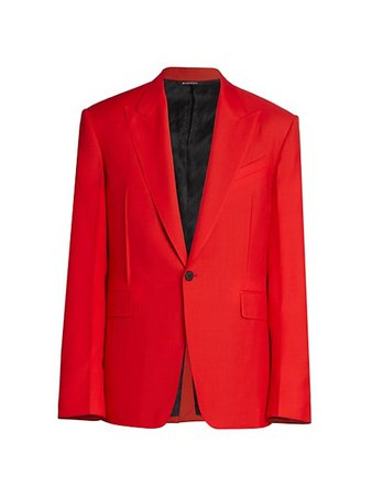 Givenchy Oversized Peak Lapel Suit Jacket | SaksFifthAvenue