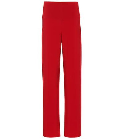 Jersey high-rise wide-leg pants