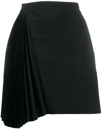 asymmetric pleated mini skirt
