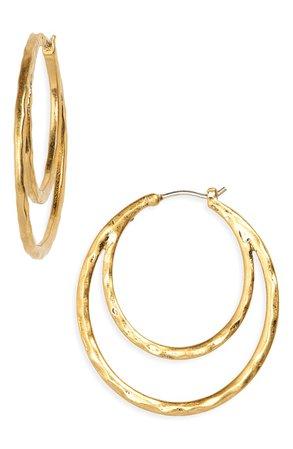 Madewell Hammered Double Hoop Earrings | Nordstrom
