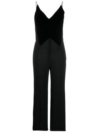 Givenchy velvet panel jumpsuit - FARFETCH