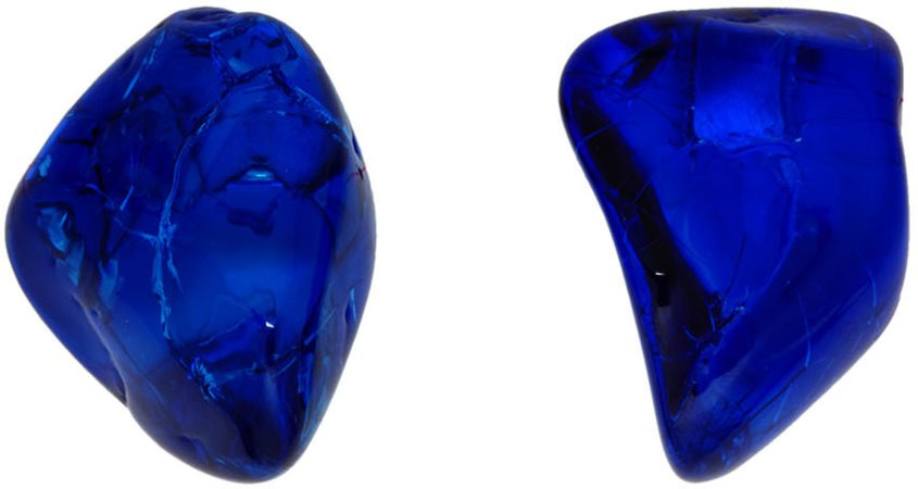 Balenciaga: Blue Rock Earrings | SSENSE