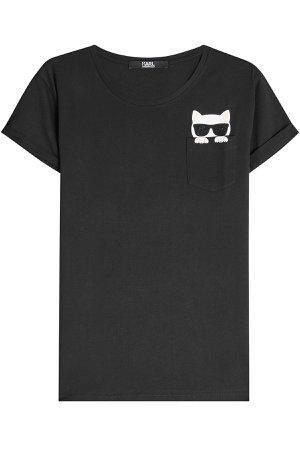 Embellished Cotton T-Shirt Gr. M