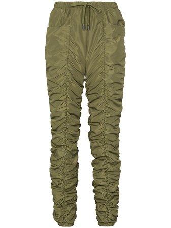 Green Fantabody ruched drawstring track pants PantaTracksuit - Farfetch