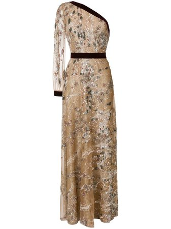 Talbot Runhof embroidered tulle dress $4,901 - Buy Online - Mobile Friendly, Fast Delivery, Price