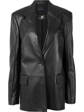 Proenza Schouler shiny leather blazer - FARFETCH