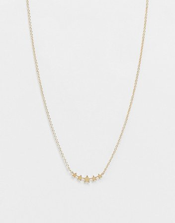 Whistles star necklace in gold | ASOS