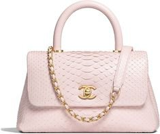 Chanel - Mini coco Pink Python