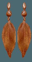 copper galvanized leaf earrings