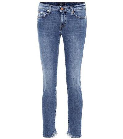 Pyper Crop mid-rise skinny jeans