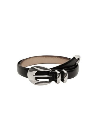 Violeta BY MANGO Skinny faux-leather belt