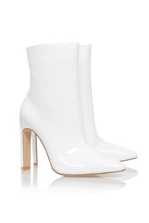 malachi white vinyl boot