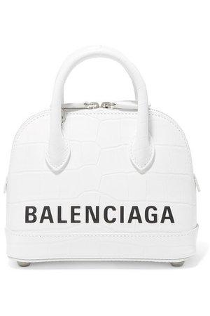 Balenciaga | Ville XXS AJ printed croc-effect leather tote | NET-A-PORTER.COM