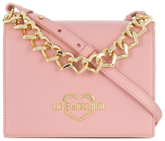Chain Hearts logo shoulder bag