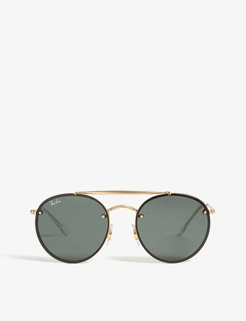 RAY-BAN - RB3614 round-frame sunglasses | Selfridges.com
