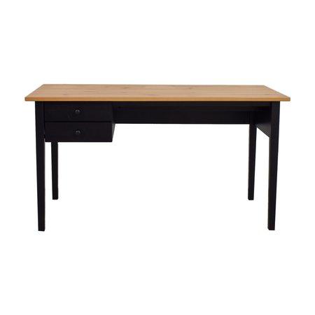 67% OFF - IKEA IKEA Arkelstorp Two-Drawer Black Desk / Tables