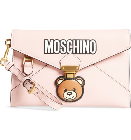 Moschino Bear Faux Leather Wristlet | Nordstrom