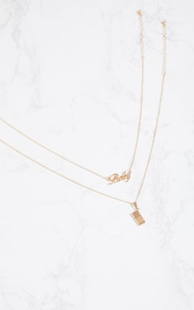 GOLD BABY LOGO PHONE NECKLACES