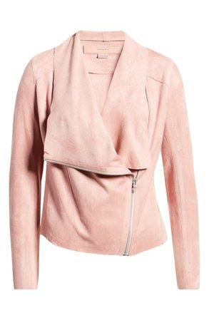 BLANKNYC Faux Suede Drape Front Jacket (Regular & Plus Size) | Nordstrom