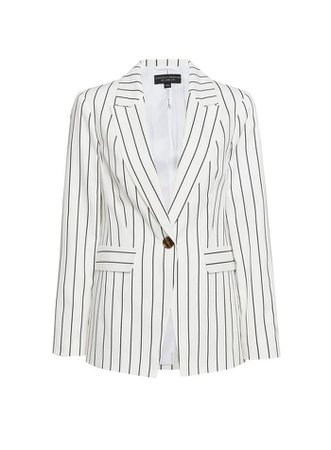 White Pinstriped Blazer Jacket   Dorothy Perkins