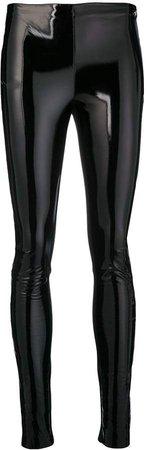 faux patent leggings