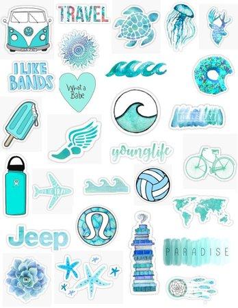 aesthetic teal vsco girl pinterest tumblr stickers