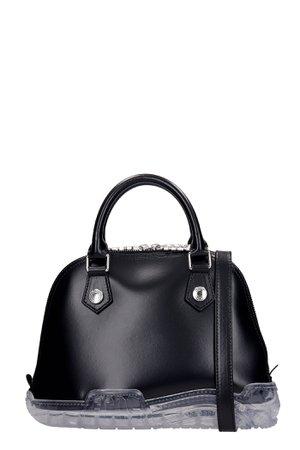 GCDS Shoulder Bag In Black Leather