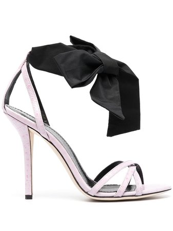 Philosophy Di Lorenzo Serafini ribbon-embellished crocodile-effect Sandals - Farfetch