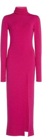 Zeynep Arcay Knit Turtleneck Midi Dress