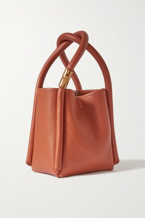 Brown Lotus 12 textured-leather tote   BOYY   NET-A-PORTER