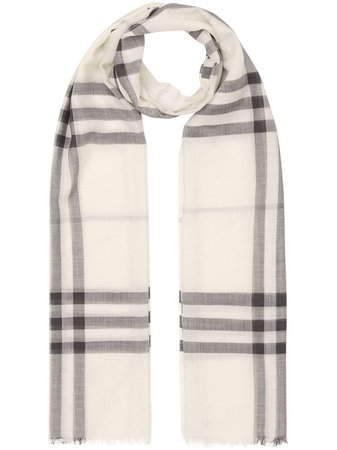 Burberry Lightweight Check Wool Silk Scarf - Farfetch