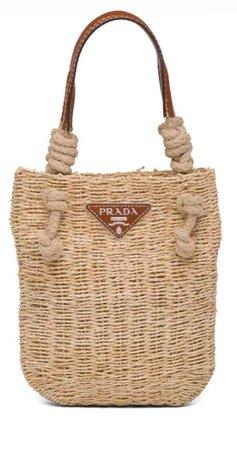 Prada straw bag