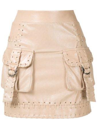 Andrea Bogosian Rubi Leather Mini Skirt - Farfetch