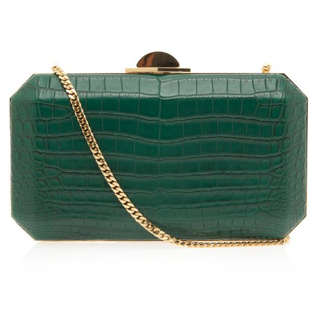 elie saab clutch green -