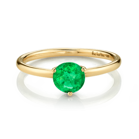 Large Solitaire Emerald Ring