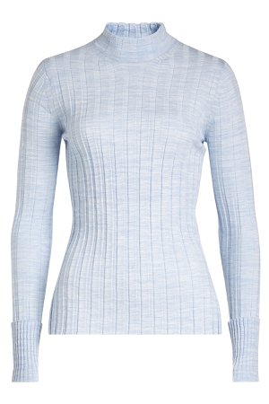 Ribbed Turtleneck Pullover with Merino Wool Gr. L