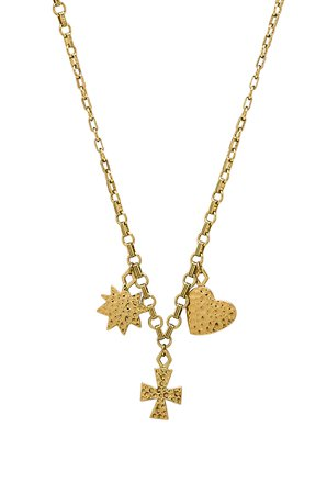 The Hammered Charm Necklace