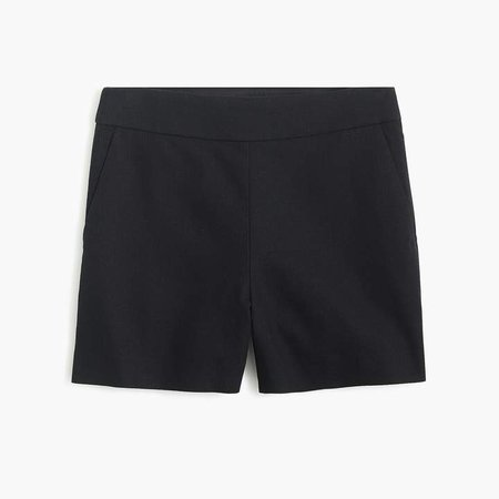 Basketweave short with side zip