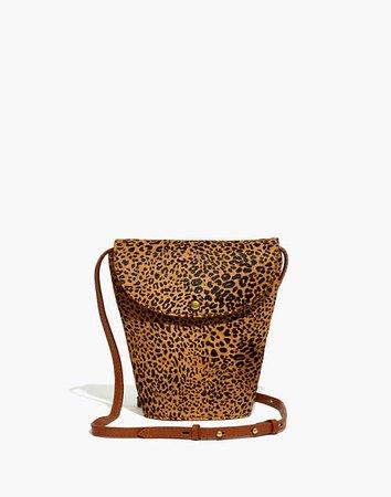 The Memphis Crossbody Bag in Mini Leopard Calf Hair brown