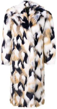 faux-fur oversized coat