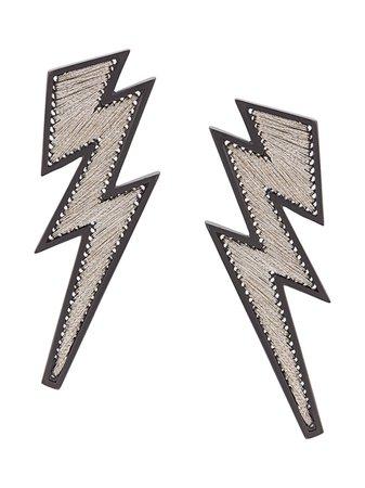 Mignonne Gavigan Lightning Earrings E65G22 White | Farfetch