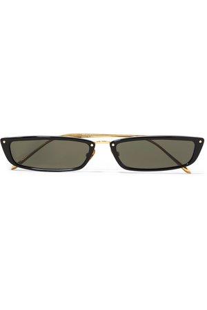 Linda Farrow | Cat-eye acetate and gold-tone sunglasses | NET-A-PORTER.COM