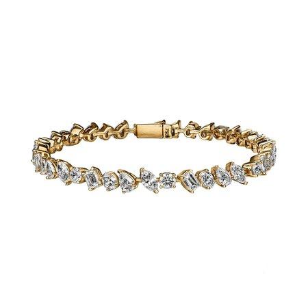 Large Multi-Shape Diamond Bracelet – Stephanie Gottlieb