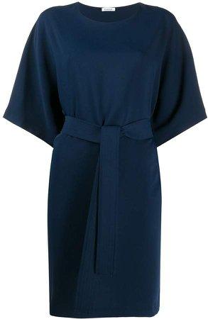 Waist-Tied Mini Dress